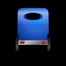 Pedicab Back Blue icon