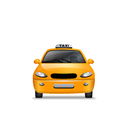 Taxi Front Yellow icon