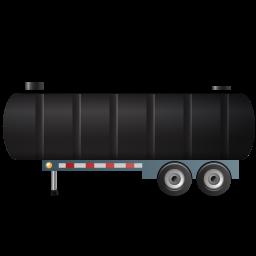 WasteTankerTrailer Left Black icon