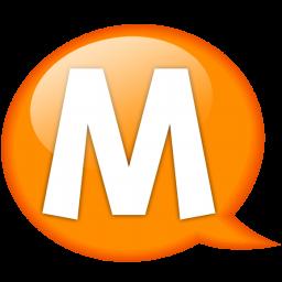 speech balloon orange m icon