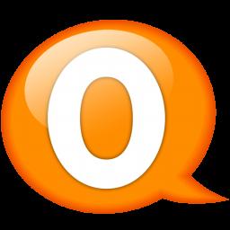 speech balloon orange o icon