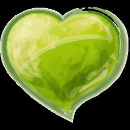 Heart green icon
