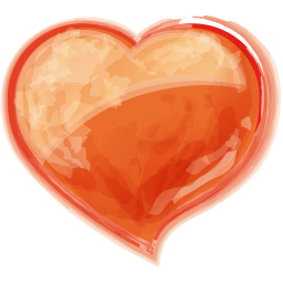 Heart orange icon