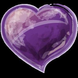 Heart violet icon