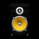 Speaker Black Plastic plus Yellow Cone icon