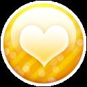 gold button heart icon