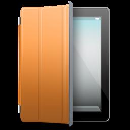 iPad Black orange cover icon