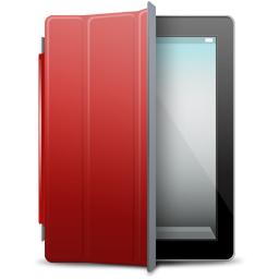 iPad Black red cover icon