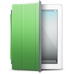 iPad White green cover icon