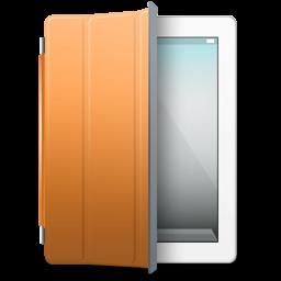 iPad White orange cover icon