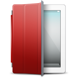 iPad White red cover icon
