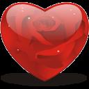rosy heart icon
