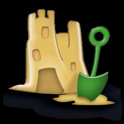 sand castle icon