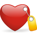 tagged heart icon