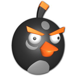 Bird black icon