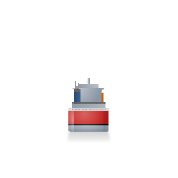 Container Ship Back Red icon