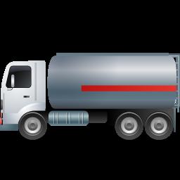 FuelTank Truck Left Grey icon