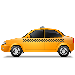 Taxi Left Yellow icon