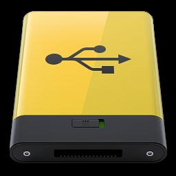 Yellow USB icon