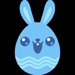 blue cute icon