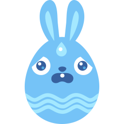 blue scared icon