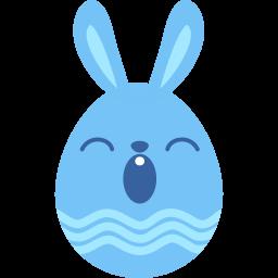 blue sleepy icon