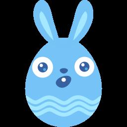 blue surprised icon