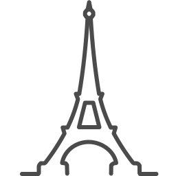 paris eiffel icon