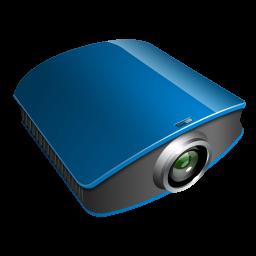 projector blue icon