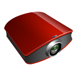 projector red icon