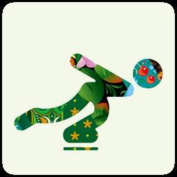 sochi 2014 ice skating icon