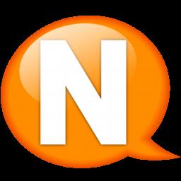 speech balloon orange n icon
