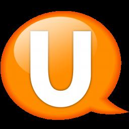 speech balloon orange u icon