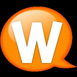 speech balloon orange w icon