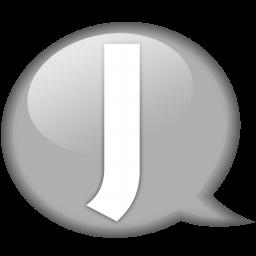 speech balloon white j icon