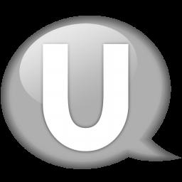speech balloon white u icon