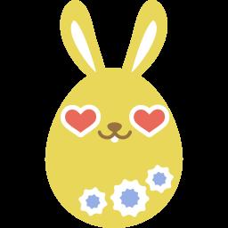 yellow love icon