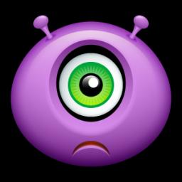 Alien sad icon