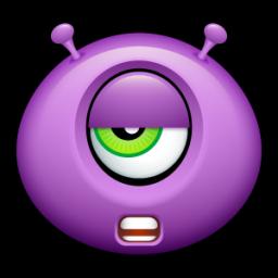 Alien talk tired icon