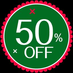 Christmas 50 Percent icon