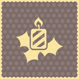 candle holly icon