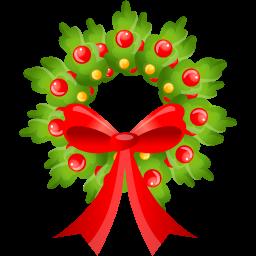 christmas bow icon